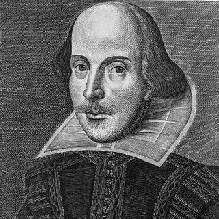 Portrait of William Shakespeare from the 1st folio.