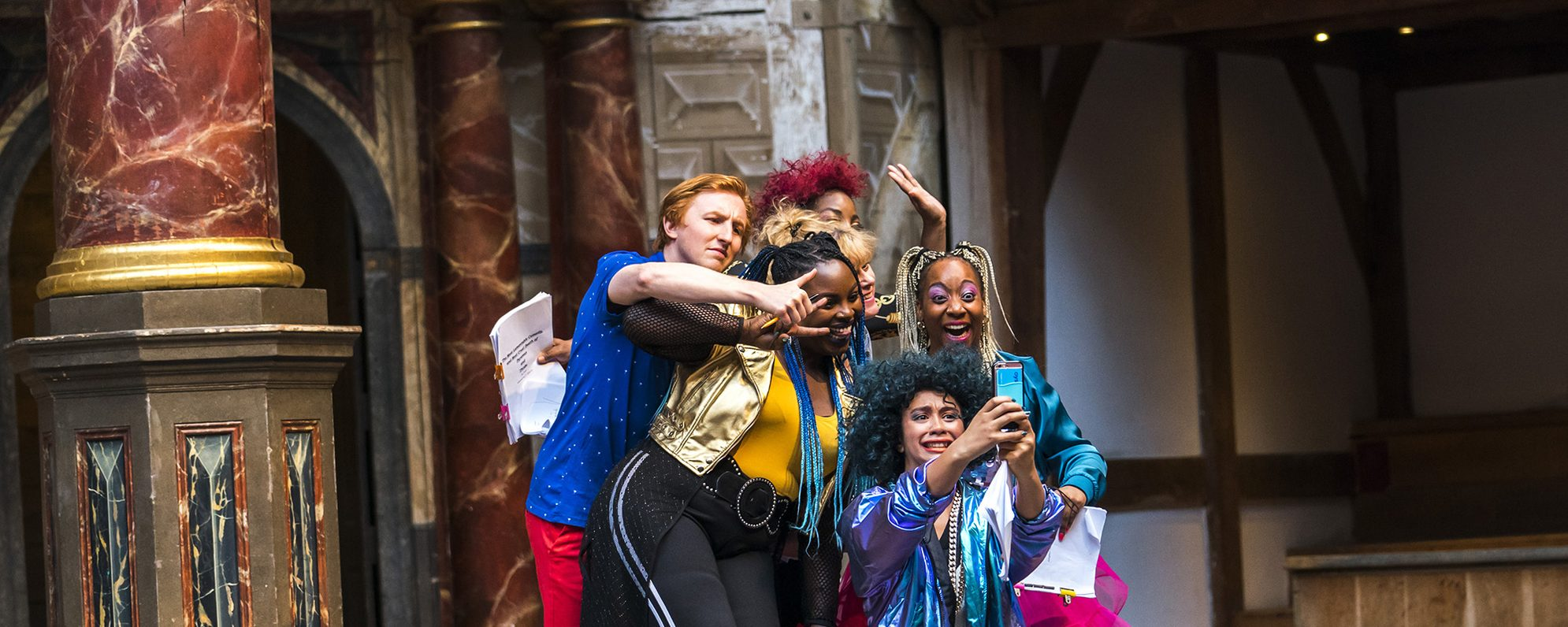 Photo from A Midsummer Night's Dream in the Globe Theatre, 2019.
