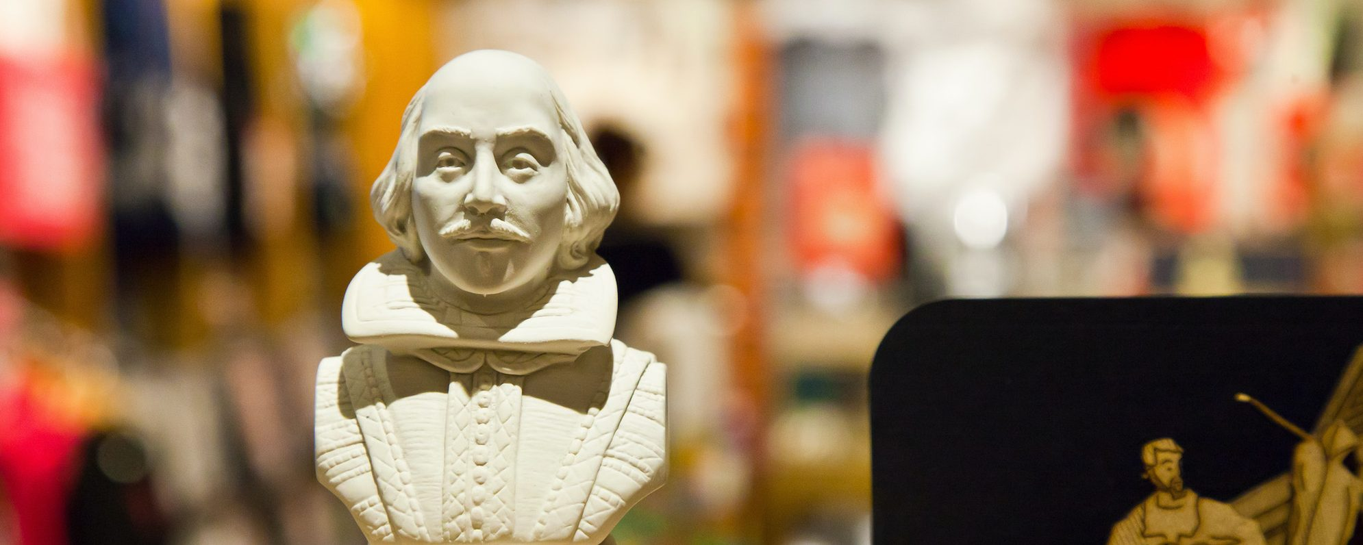 A model bust of Shakespeare's head