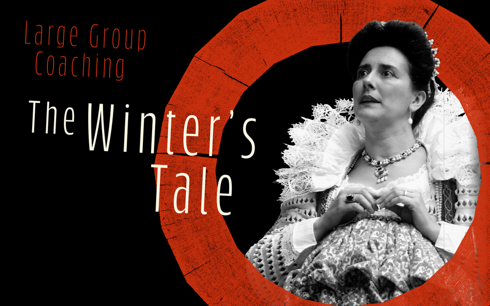 Text: Large Group Coaching, The Winter's Tale